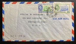 1948 Belize British Honduras Cover To Downington PA USA St George Cay