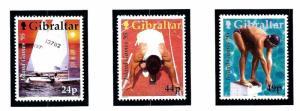 Gibraltar 680-82 MNH 1995 Island Games