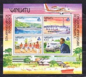 VANUATU - 1985 5th ANNIVERSARY OF INDEPENDENCE - MIN/SHT MNH