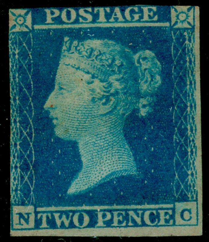 SG14, 2d blue PLATE 4, LH MINT. Cat £5000. NC