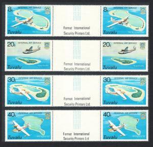 Tuvalu Internal Service 4v Horizontal Gutter Pairs 1979 MNH SG#127-130