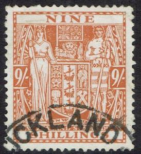 NEW ZEALAND 1931 ARMS 9/- POSTAL USED WMK SINGLE STAR NZ