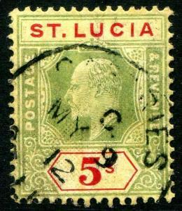 HERRICKSTAMP ST. LUCIA Sc.# 63 Used Scott Retail $77.00