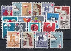 Yugoslavia Mint Never Hinged + USED Red Cross Stamps Ref 30627