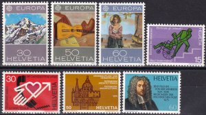 Switzerland #603-9 MNH  CV $4.70 (Z5815)