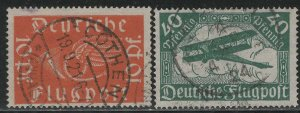Germany Reich Scott # C1 - C2, used, all exp h/s