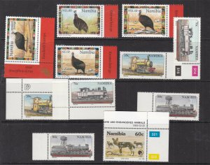 NAMIBIA ^^^^^^sc# 799//874  x12  better MNH ( Grest Topicals ) $$@ lar 925nami
