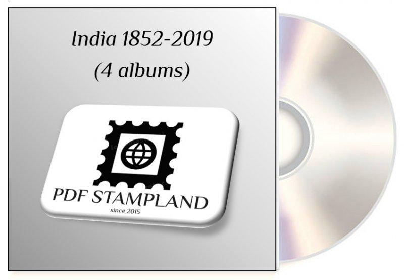 India 1852-2019 (4 albums) PDF (DIGITAL)  STAMP ALBUM PAGES