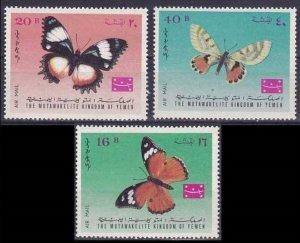 1968 Yemen Kingdom 448-50 Butterflies 6,00 €