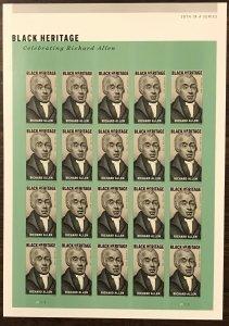5056    Richard Allen Black Heritage    MNH  Forever sheet 20   FV $11.00   2016
