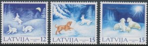 Latvia 2001 #540-2 MNH. Christmas
