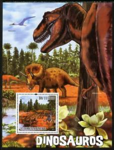 St. Thomas & Prince Islands MNH S/S Dinosaurs 2010