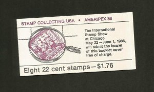 BK # 153 - Scott # 2201a - AMERIPEX 86 - 8 (22 Cent) Stamp Booklet - NH - MINTd