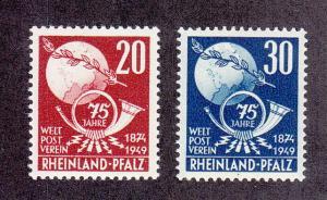 Germany (Rhine Palatinate) Scott #6N41-6N42 MNH
