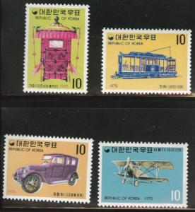 Korea Scott 704-707 MNH** Transportation stamp set CV $10