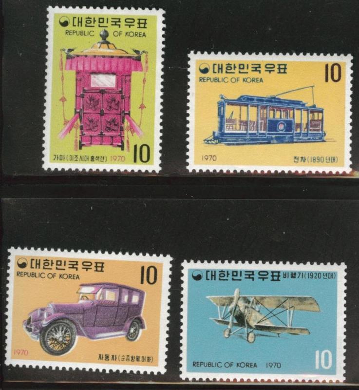 Korea Scott 704-707 MNH** Transportation stamp set CV $10