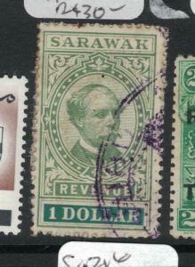 Sarawak Charles Brooke $1 Revenue VFU (7dvq)