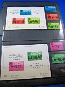 MEXICO  -  SCOTT # 981-985, C328-C331, 983a, 985a, C329a, C331a - OLYMPICS - MNH