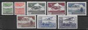 Czechoslovakia C10-17 1930 Airmails set Unused Hinged  (z4)