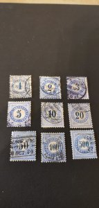 Switzerland #J1-J9 Used Set