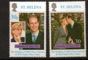ST.HELENA SG783/4 1999 ROYAL WEDDING  MNH