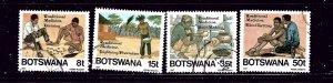 Botswana 393-96  Used 1987 set