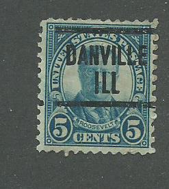 1927 USA Danville, Ill  Precancel on Scott Catalog Number 637