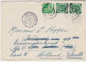Germany Konstanz 1951 Posthorn+Other Stamps Cover to Den Dolder Holland Rf 32314