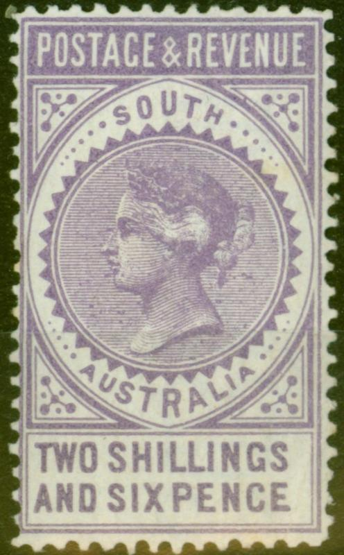 South Australia 1886 2s6d Mauve SG195a P.11.5 - 12.5 Fresh Lightly Mtd Mint