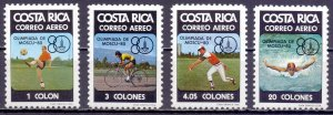 Costa Rica. 1980. 1065-68. Moscow Summer Olympic Games. MNH.