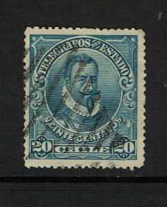 Chile 20c 1901 Telegraph PERF 14 / Ex Estudio 20 - S7444