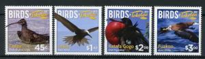 Tokelau 2017 MNH Birds 4v Set Curlew Noddy Frigatebird Booby Bird Stamps