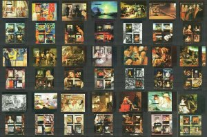 TG443-463 2014 TOGO ART PAINTINGS GREAT PAINTERS COLOR PRINT !!! 21KB+21BL MNH