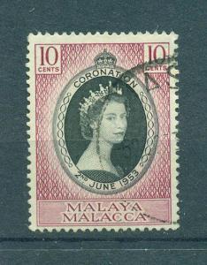 Malaya - Malacca sc# 27 (3) used cat value $.75