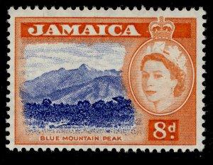 JAMAICA QEII SG167, 8d ultramarine & red-orange, NH MINT.