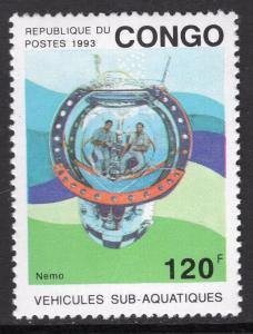 Congo People's Republic 1023 Submarine MNH VF