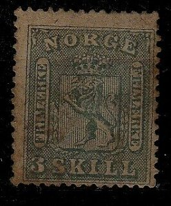 Norway 7 MNH,toning on face SCV850