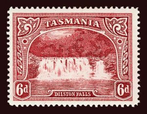 TASMANIA Scott #93 (SG 29) 1889 Dilston Falls unused HR