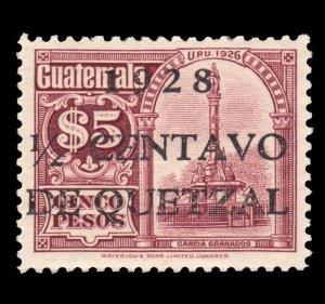 GUATEMALA STAMP 1928 SCOTT # 231. UNUSED.