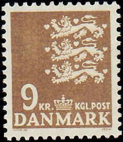 1972-1978 Denmark #505, Incomplete Set, Never Hinged