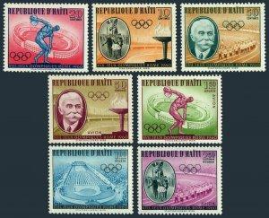 Haiti 462-C165,MNH.Michel 629-635.Olympics Rome-1960.Stadium.Pierre de Coubertin
