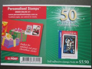 AU 2007, 50 YEARS OF CHRISTMAS STAMPS, BKL. UNFOLDED SG SB 258, CV £8.00, MNH