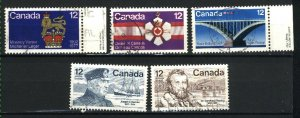 Can #735-739   -2    used VF 1977 PD