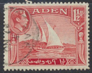 Aden  SG 19  Used   SC# 19  Adenese Dhow  see scan