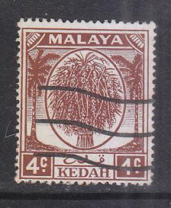 Malaya Kedah 1950 Sc64 4c Used