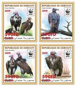 Z08 DJB190519a2 DJIBOUTI 2019 WWF Vulture MNH ** Postfrisch