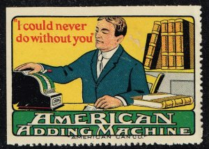 US STAMP I COULD NEVER DO WITHOUT YOU AMERICAN CAN CO. ADS POSTER STAMP #1