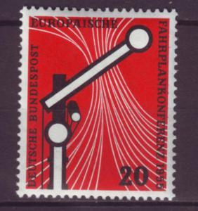 J1060 jls stamp 1955 germany mh scn 734 rr railroad set/1