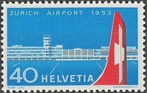 Switzerland 1953 40c Zurich Airport MUH