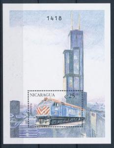 [61410] Nicaragua 1999 Railway Train Elsenbahn Chemin De Fer Souvenir Sheet MNH